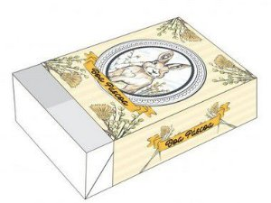 Caixa Divertida Boa Páscoa Ref. 886 para 6 doces - 10 unidades - Erika Melkot - Rizzo Embalagens