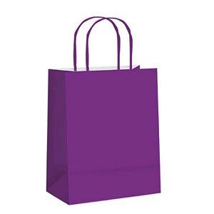 Sacola de Papel M Purpura- 26x19,5x9,5cm - 10 unidades - Cromus - Rizzo Embalagens