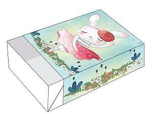 Caixa Divertida para 06 doces - Coelha Bailarina Ref. 885 - 10 unidades - Erika Melkot - Rizzo Embalagens