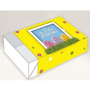 Caixa Divertida para 06 doces - Páscoa Ovos no Jardim Ref. 1276 - 10 unidades - Erika Melkot - Rizzo Embalagens