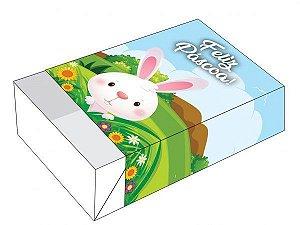 Caixa Divertida para 06 doces - Páscoa Coelho Mato Ref. 875 - 10 unidades - Erika Melkot - Rizzo Embalagens