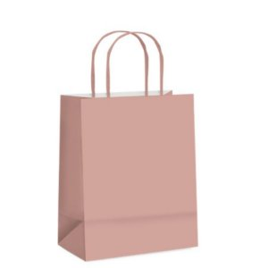 Sacola de Papel G Rose Gold Fosco - 32x26,5x13cm - 10 unidades - Cromus - Rizzo Embalagens