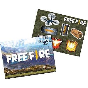 Kit Decorativo Festa Festa Free Fire - 01 Unidade - Festcolor - Rizzo Festas