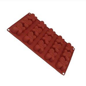 Forma de Silicone Pequena Borboleta - 01 unidade - ArtLille - Rizzo Embalagens