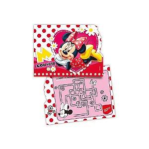 Convite P Festa Minnie - 8 unidades - Regina - Rizzo Festas
