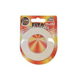 Fita Dupla Face Branca Espuma - 18mm x 2m - 01 Unidade - Rizzo Balões
