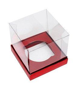 Caixa Mini Bolo GG (10cm x 10cm x 10cm) Vermelho - 10 unidades - Assk - Rizzo Embalagens