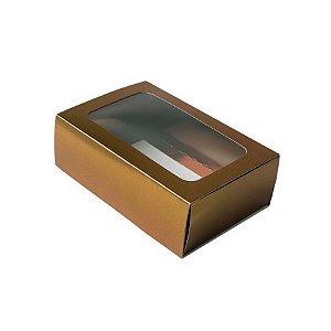 Caixa Gaveta com Visor Nº2 (8cm x 12cm x 4cm) Marrom 10 unidades Assk Rizzo Embalagens