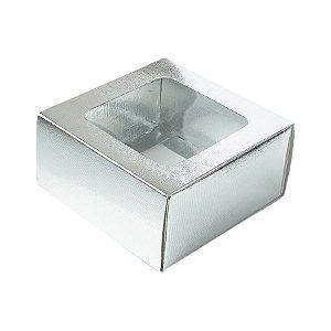 Caixa Gaveta com Visor Nº1 (8cm x 8cm x 4cm) Prata 10 unidades Assk Rizzo Embalagens