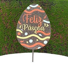Topo de Bolo Color Glitter Ovo Chocolate Feliz Páscoa - Sonho Fino - Rizzo Embalagens