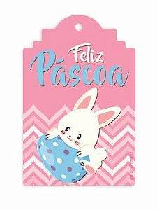 Tag Decorativa Feliz Páscoa - 12 unidades - Duster Festas - Rizzo Embalagens