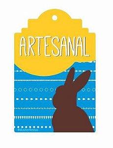Tag Decorativa Páscoa Artesanal - 12 unidades - Duster Festas - Rizzo Embalagens