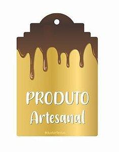 Tag Decorativa Produto Artesanal - 12 unidades - Duster Festas - Rizzo Embalagens