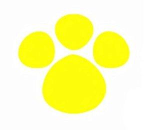 Adesivo Patinha Amarela P 5cm x 5cm - 50 Unidades - Decora Doces - Rizzo Embalagens