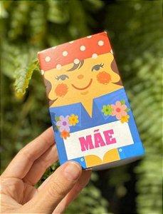 Caixa Divertida para 6 doces - Mamãe Rippy Ref. 950 - 10 unidades - Erika Melkot - Rizzo Embalagens