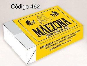 Caixa Divertida para 6 doces - Mãezona Ref. 462 - 10 unidades - Erika Melkot - Rizzo Embalagens