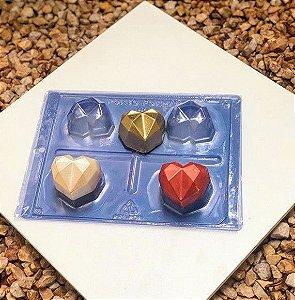 Forma Especial Coração Lapidado Cod 03 - Porto Formas - Rizzo Embalagens