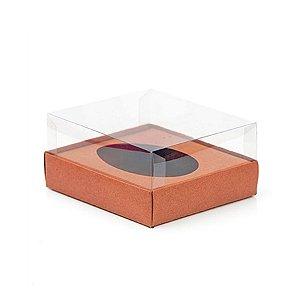 Caixa Ovo de Colher - Meio Ovo de 100g a 150g - 11cm x 12,7cm x 7,5cm - Rosê Gold - 5unidades - Assk - Páscoa Rizzo Emb