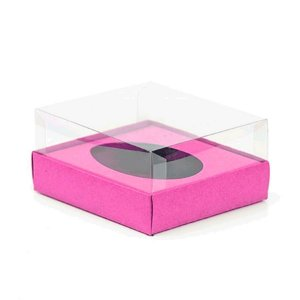 Caixa Ovo de Colher - Meio Ovo de 250g - 15cm x 13cm x 6,5cm - Rosa - 5unidades - Assk - Páscoa Rizzo Embalagens