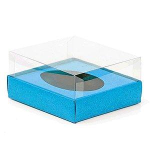Caixa Ovo de Colher - Meio Ovo de 350g - 20,5cm x 17cm x 6,5cm - Azul - 5unidades - Assk - Páscoa Rizzo
