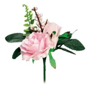 Pick 3 Botões de Rosa  - 1 unidade - 18x9 cm - Cromus - Rizzo