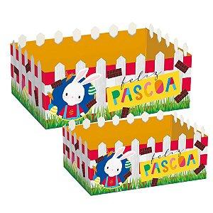 Cesta Cerquinha de Papel Cartão Brilho de Páscoa - 01 unidade - Cromus Páscoa - Rizzo Embalagens