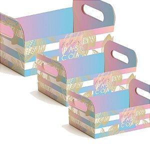 Caixote de Papel Cartão Ombre - 01 unidade - Cromus Páscoa - Rizzo Embalagens
