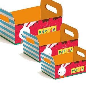 Caixote de Papel Cartão Brilho de Páscoa - 01 unidade - Cromus Páscoa - Rizzo Embalagens