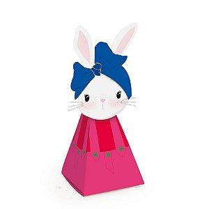 Caixa Cone Brilho de Páscoa Rosa - 5x5x14cm - 10 unidades - Cromus Páscoa - Rizzo Embalagens