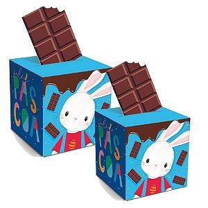 Caixa Pop Up Brilho de Páscoa Azul - 10 unidades - Cromus Páscoa - Rizzo Embalagens