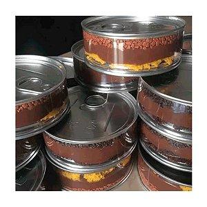 Enfeite Plastico Lata Baixa Tipo Atum Prata - 6 Unidades - Art Lille - Rizzo Embalagens