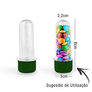 Mini Tubete Lembrancinha 8cm 10 unidades - Verde - Rizzo Embalagens e Festas