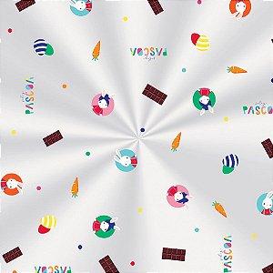 Saco Transparente Decorado Brilho de Páscoa 10x14cm  - 100 unidades - Cromus Páscoa - Rizzo Embalagens
