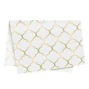 Papel de Seda - 49x69cm - Núria Branco - 10 folhas - Rizzo Embalagens