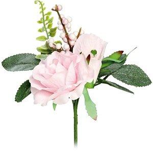 Pick 3 Botões de Rosa Brancas - 1 unidade - 18x9 cm - Cromus - Rizzo