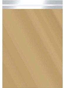 Saco Metalizado com Aba Adesiva Dourado 25x35cm - 50 unidades - Cromus - Rizzo Embalagens