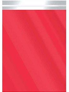 Saco Metalizado com Aba Adesiva Vermelho 15x20cm - 50 unidades - Cromus - Rizzo Embalagens