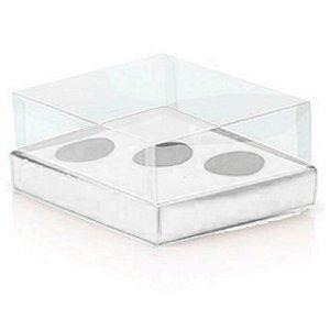 Caixa Ovo de Colher Triplo - Meio Ovo de 50g a 80g - Branco - 20,5x17x6,5cm - 5un - Assk Rizzo Embalagens