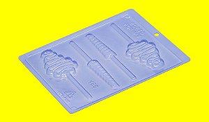 Forma de Acetato Pirulito Psicodélico - Cód.159 - Porto Formas - Rizzo Embalagens