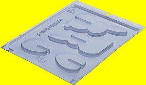 Forma de Acetato Coelho 3D - Cód.151 - Porto Formas - Rizzo Embalagens