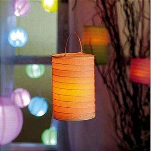 Lanterna de Papel para Vela Eletrônica P - 8x9cm - 01 unidade - Cromus - Rizzo Festas