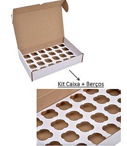 Caixa para Transporte 25 Cupcakes com berço 40x40x12cm - Niagara - Rizzo Embalagens