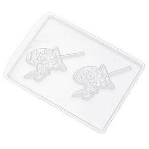 Forma de Acetato Pirulito Feliz Páscoa Mod. 573 - 01 unidade - Crystal - Rizzo Embalagens