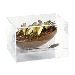 Caixa Meio Ovo em Acrílico Resistente Transparente 350g - Linha Elegance - Cromus Páscoa Rizzo