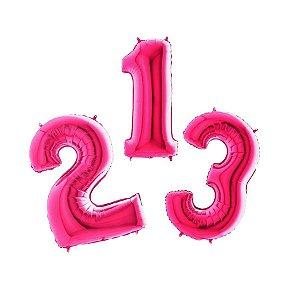 """Balão de Festa 40"""" 102cm - Número Rosa - 01 Unidade - Grabo - Rizzo Embalagens"""