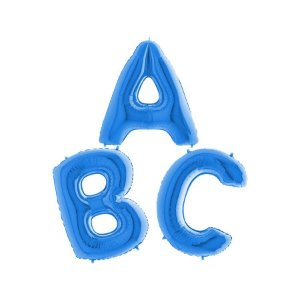 "Balão de Festa 40"" 102cm - Letra Azul - 01 Unidade - Grabo - Rizzo Embalagens"