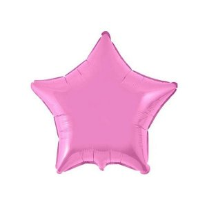 """Balão de Festa Metalizado 20"""" 50cm - Estrela Rosa Metálico - 01 Unidade - Flexmetal - Rizzo Embalagens"""