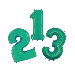 """Balão de Festa 14"""" 36cm - Número Tiffany - 01 Unidade - Grabo - Rizzo Embalagens"""