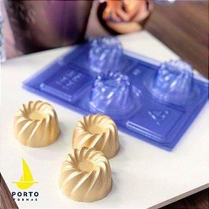 Forma de Acetato Bolinho Vulcão Ref 89 - Porto Formas - Rizzo Embalagens
