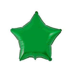 """Balão de Festa Metalizado 20"""" 50cm - Estrela Verde - 01 Unidade - Flexmetal - Rizzo Embalagens"""